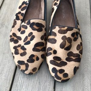 NWOT Aerosoles leopard print pony hair loafers